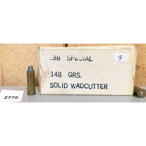 AMMO: 50X 38 SPL 148GR SWC
