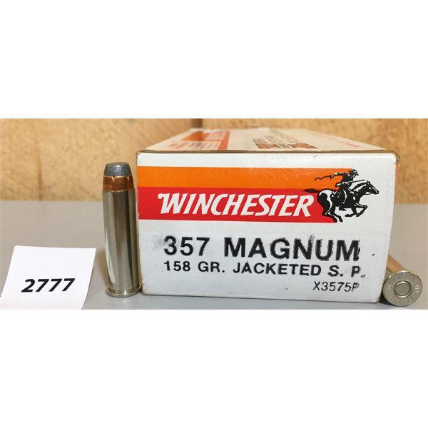AMMO: 50X WINCHESTER 357 MAG158GR JSP
