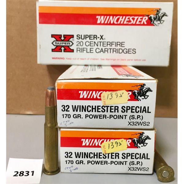 AMMO: 60X WINCHESTER 32 WIN SPL 170GR SP