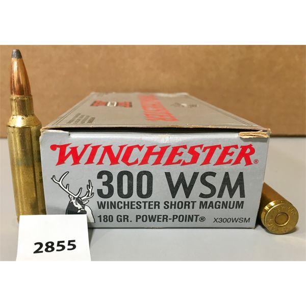 AMMO: 20X WINCHESTER 300 WSM 180GR SP