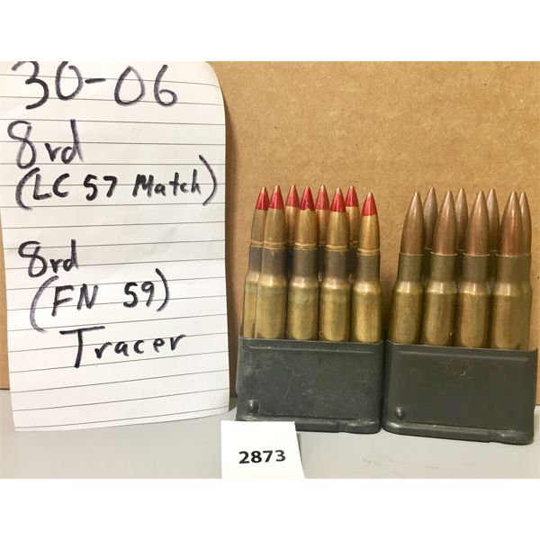 AMMO: 16X 30-06 SPRG MATCH AND TRACER