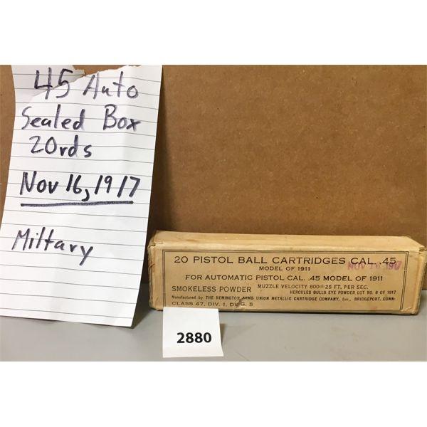 AMMO: 20X 45 ACP SEALED BOX 1917