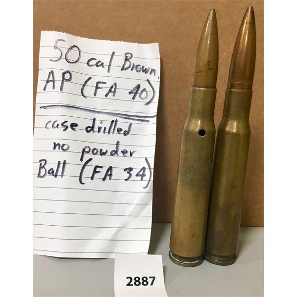 AMMO: 2X 50 BMG 1 AP & 1 BALL
