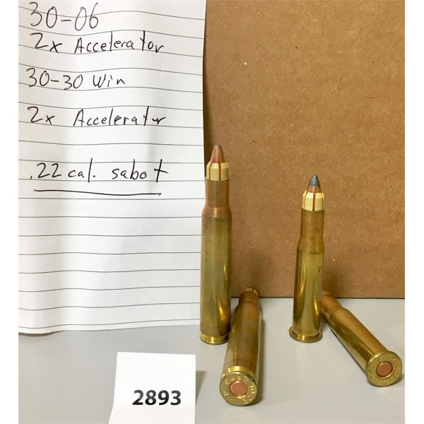 AMMO: 2X 30-06 SPRG & 2X 30-30 WIN ACCELERATOR
