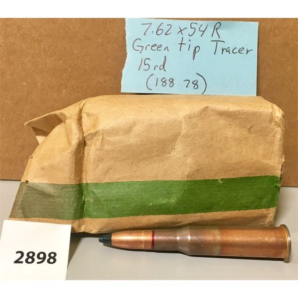 AMMO: 15X 7.62 X 54R TRACERS