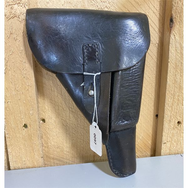 P-38 LEATHER 9 MM HOLSTER - ORIG GERMAN ISSUE