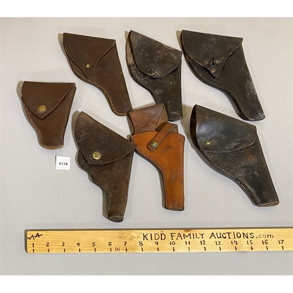 LOT OF 7 - LEATHER HOLSTERS