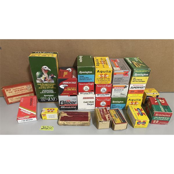 JOB LOT OF COLLECTIBLE AMMO BOXES; 24