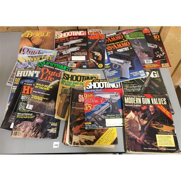 JOB LOT OF VINTAGE GUN PUBLICATIONS & MAGAZINES