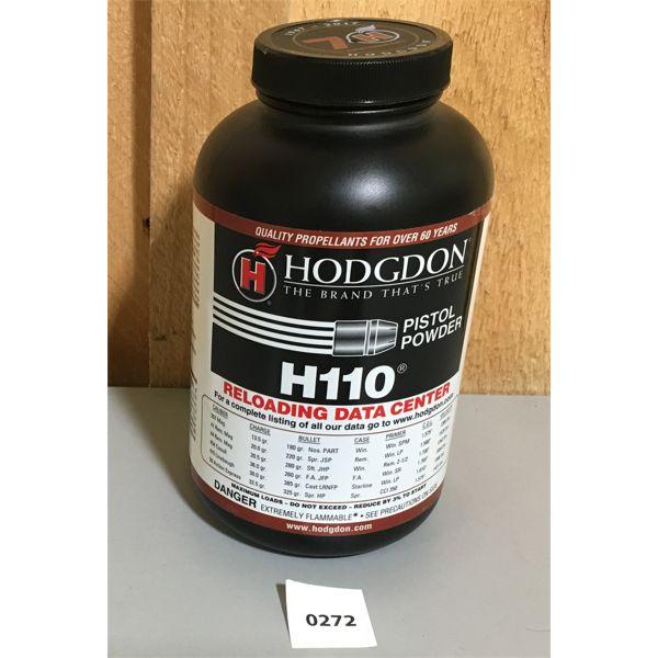 HODGDON H110 PISTOL POWDER, APPROX 1 LB.