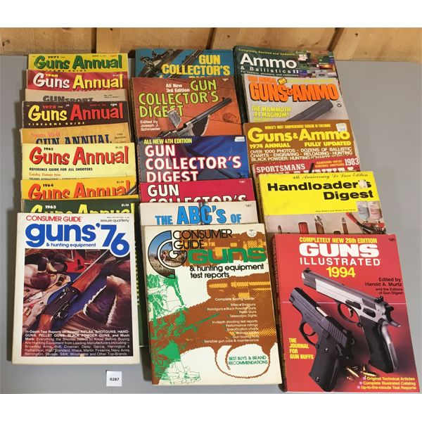 JOB LOT OF GUN PUBLICATIONS & MAGAZINES