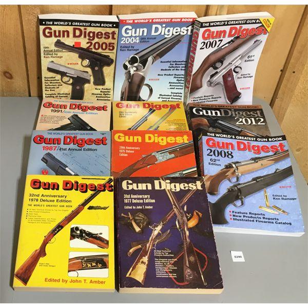 JOB LOT OF GUN DIGEST PUBLICATIONS