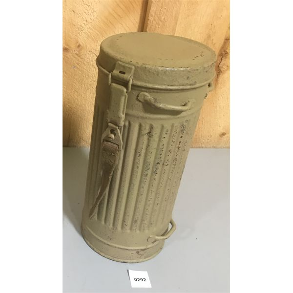 WWII GERMAN M38 GAS MASK CANISTER - AFRIKA CORP.