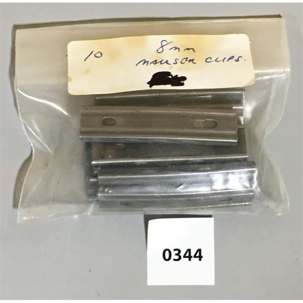 LOT 0F 10 - 8 MM MAUSER CLIPS