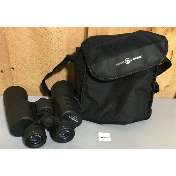BEAR CREEK BINOCULARS W/ CASE - 10 X 50 POWER