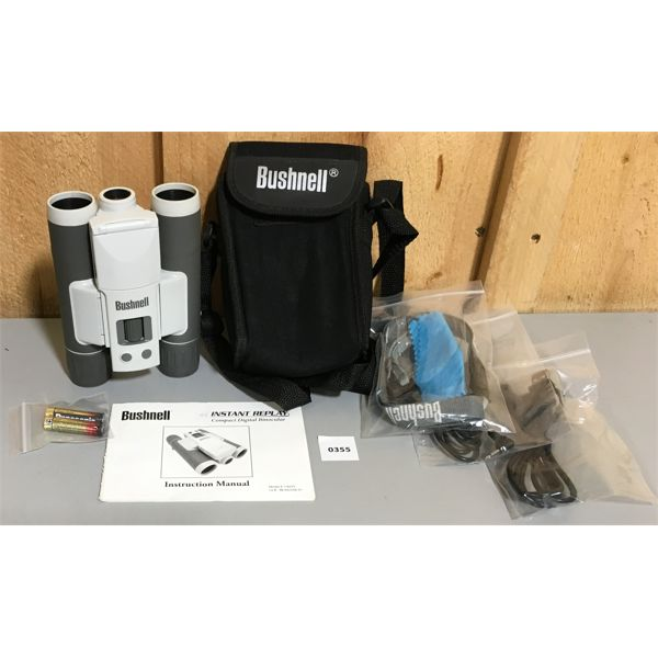 BUSHNELL COMPACT INSTANT REPLAY DIGITAL CAMERA W/ BATTERIES, MANUAL, CASE