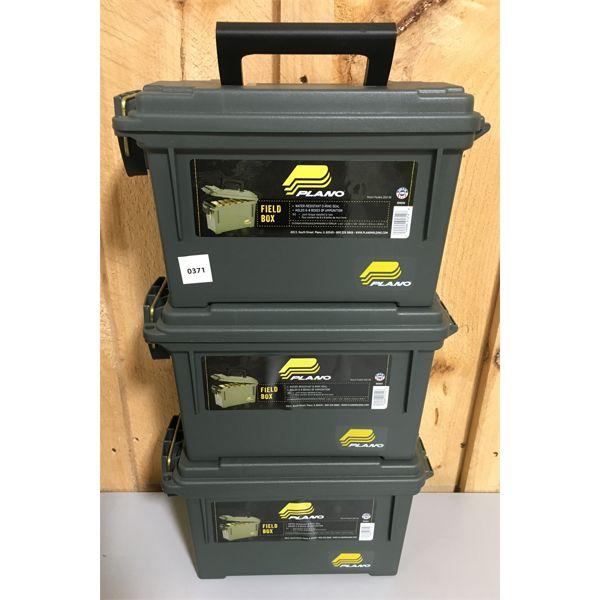 LOT OF 3 - PLANO PLASTIC AMMO BOXES