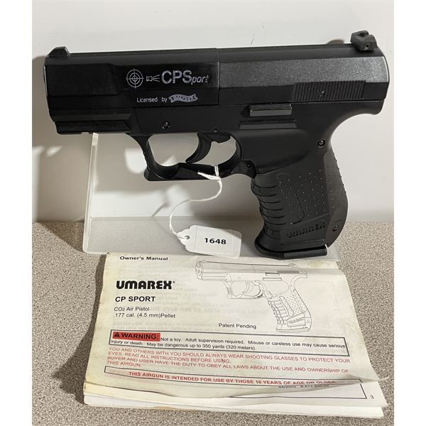 WALTHER MODEL CP SPORT IN .177 PELLET - NO PAL REQUIRED