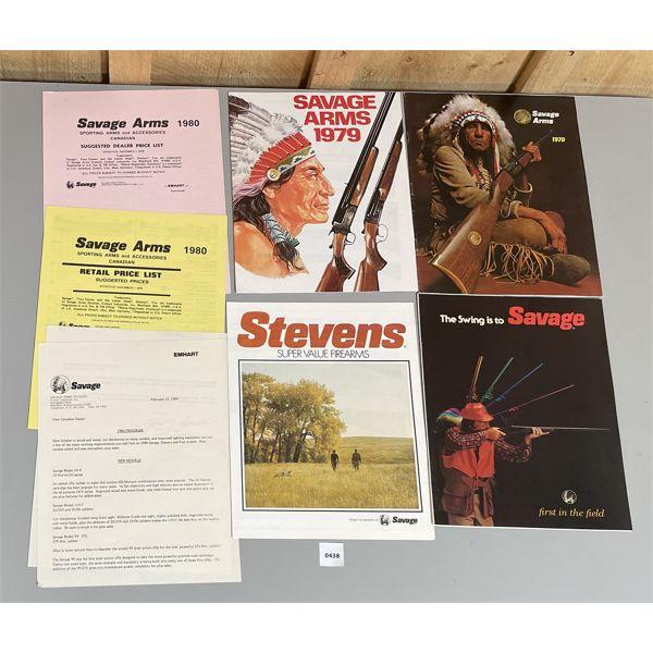 1970 / 70 / 80 SAVAGE CATALOGS & 1980 PRICE LISTS