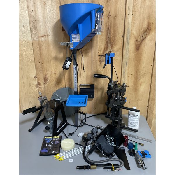 DILLON SUPER 1050 RELOADING SET - VERY GOOD CONDITION - APPEARS COMPLETE