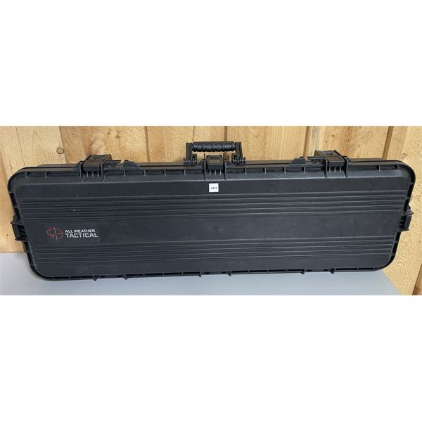 ALL WEATHER TACTICAL HARD LONG GUN CASE W/ CUT OUTS.