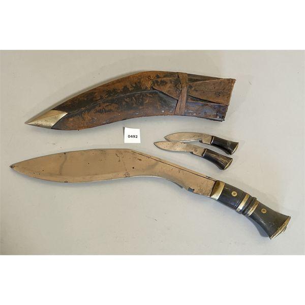 KUKRI KNIFE SET W/ SHEATH
