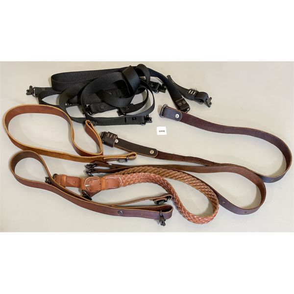 JOB LOT - LEATHER AND CANVAS SLINGS