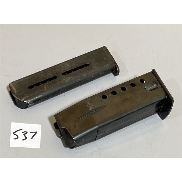LOT OF 2 - UNKNOWN SA PISTOL MAGS