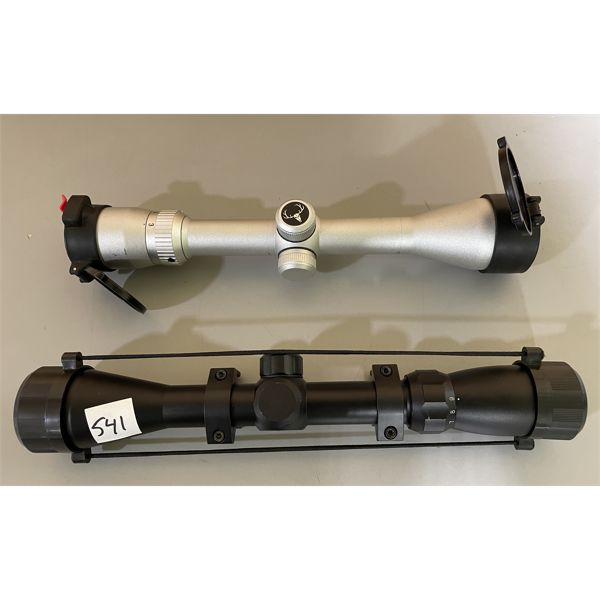 LOT OF 2 - UNKNOWN 3-9 X 40 SCOPES - CLEAR