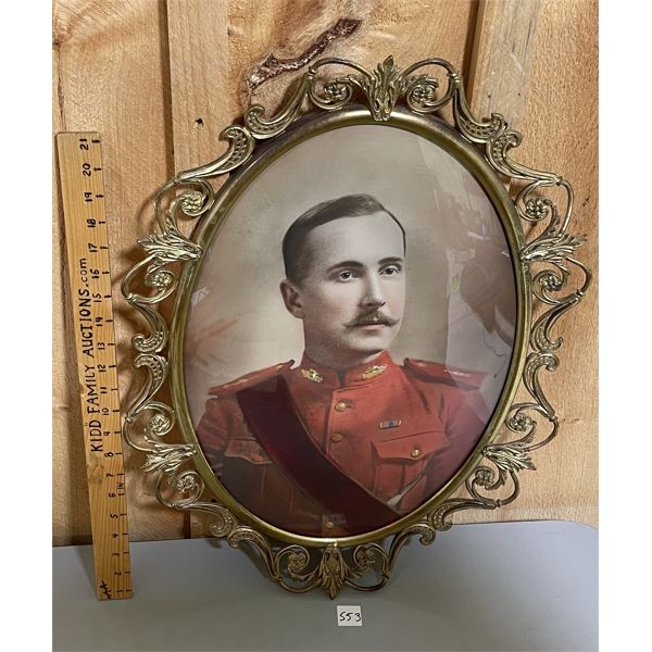 RCR OFFICERS IMAGE - FRAMED W/ CONVEX GLASS - 1890's