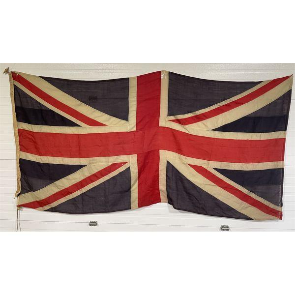 VINTAGE BRITISH UNION JACK FLAG - 50 X 100 INCHES - COTTON