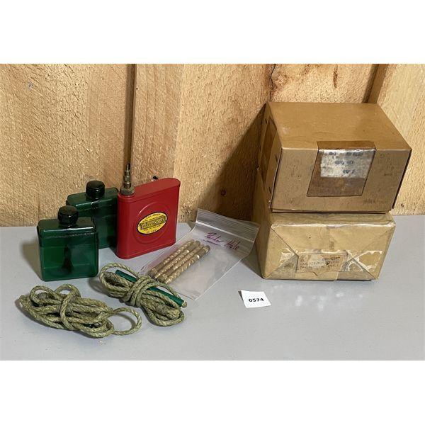 PARKER HALE OILER & EXTRA SPOUTS & 10 X OIL CANS (SEALED)