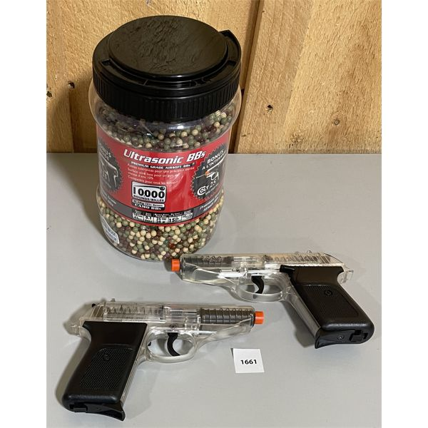 LOT OF 2 - SIG SAUER P30 BB GUNS & QTY OF BB's - NO PAL REQUIRED