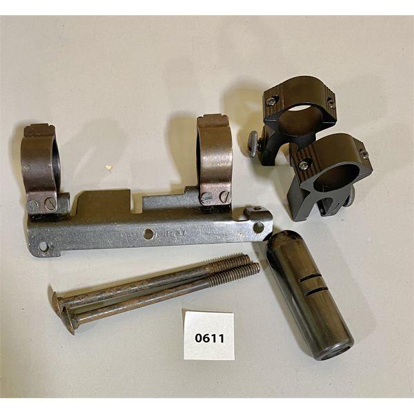 JOB LOT - MISC GUN PARTS - RINGS, PISTOL COUNTER WEIGHT, ETC