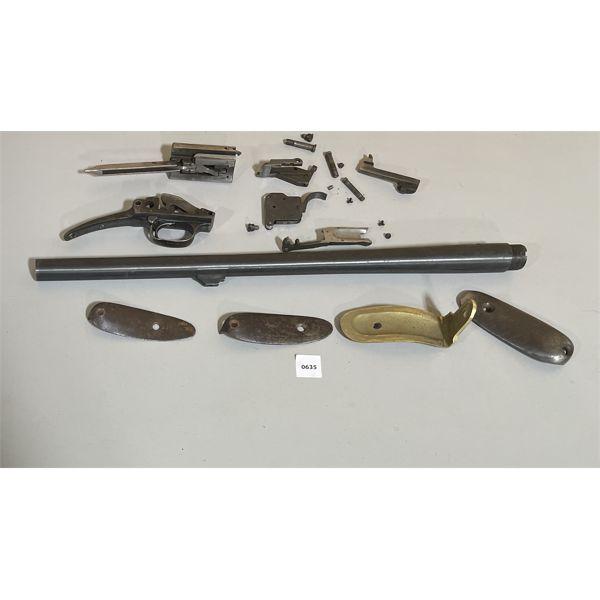 JOB LOT - 12 GA 20 INCH BARREL (BORE F-G.), BUTT PLATES, MISC SHOTGUN PARTS