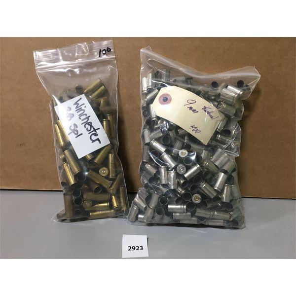 BRASS: 400X 9 MM NICKEL & 100X 38 SPL