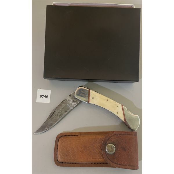 LOWER CND ARMS 55TH ANNIVERSARY COMMEMORITIVE POCKET KNIVE IN DISPLAY CASE