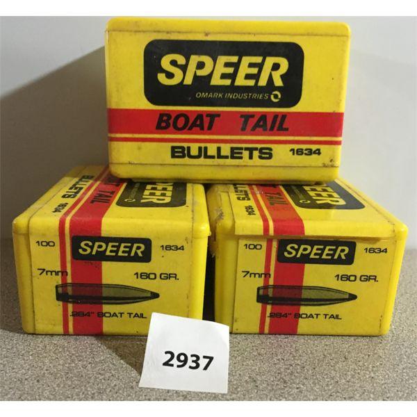 """BULLETS: 300X SPEER 7MM (.284"""") 180GR SPBT"""