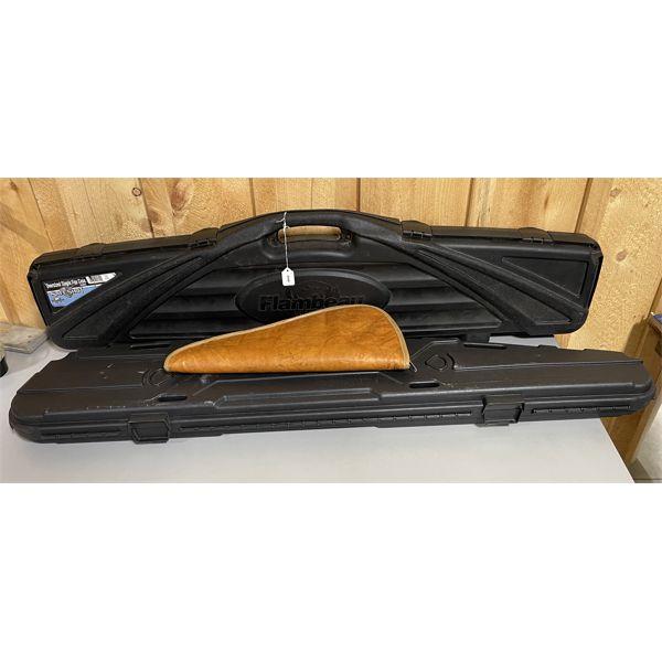 LOT OF 3 - HARD LONG GUN CASES & SOFT HANDGUN CASE