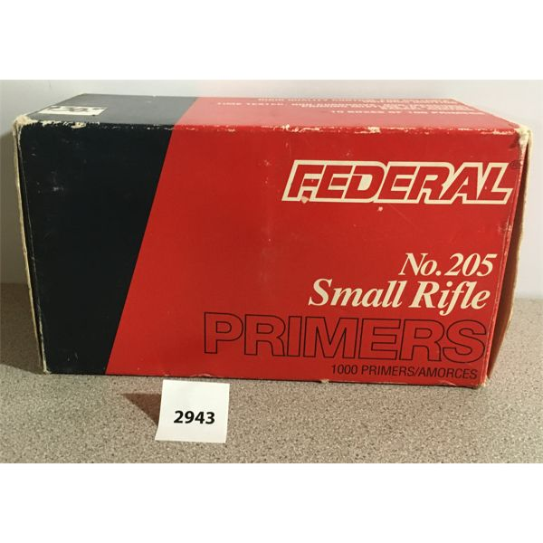 PRIMERS: 1000X FEDERAL SMALL RIFLE