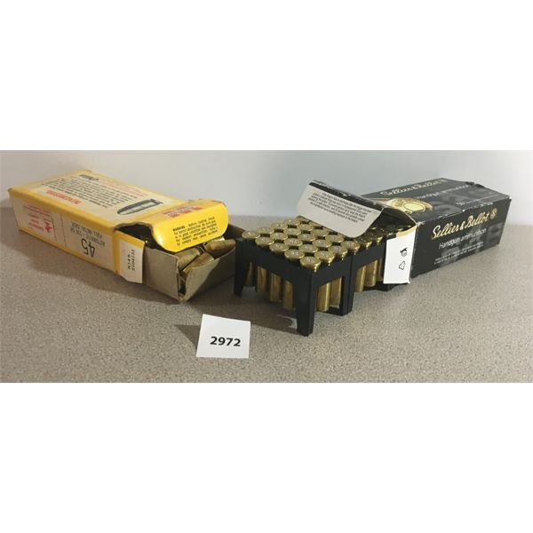 BRASS: LOT OF 2; 45 x 458CP & 50 x 357 MAG