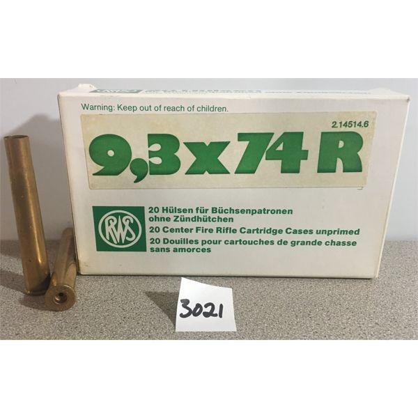 BRASS: 20 x 9.3X74R