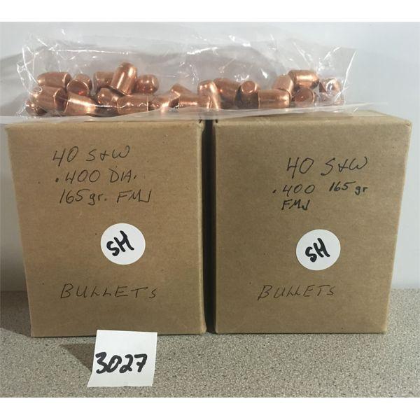 BULLETS: 231 x 40 CAL 165 GR. FMJ