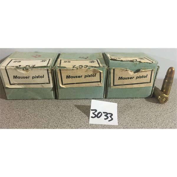 AMMO: APPROX. 60 x 7.63 MAUSER