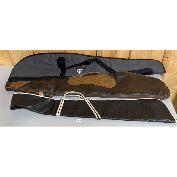 LOT OF 3 - SOFT LONG GUN CASES