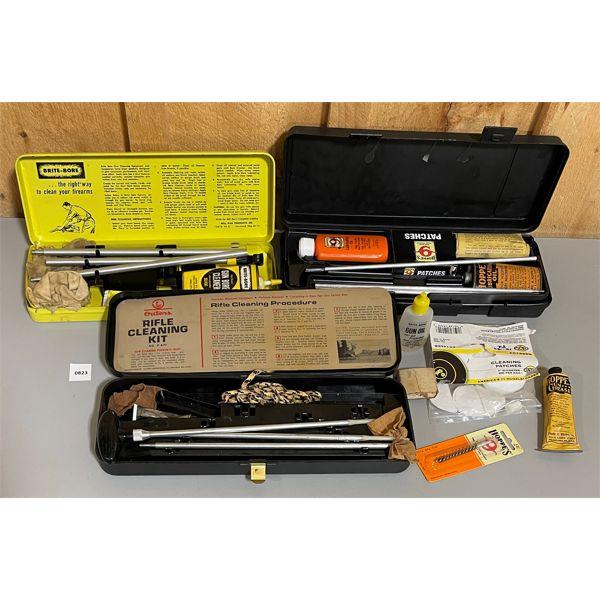 JOB LOT - CLEANING SUPPLIES - SHOT GUN KIT, .30 CAL