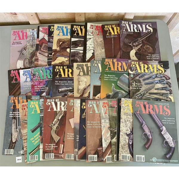 LOT OF 35 - 'MAN AT ARMS' MAGAZINES - LATE 1990's & EARLY 2000