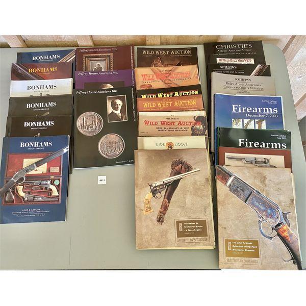 LOT OF 36 - VARIOUS GUN AUCTION CATALOGS
