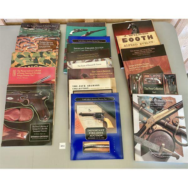 LOT OF APPROX 20 - VARIOUS GUN AUCTION CATALOGS