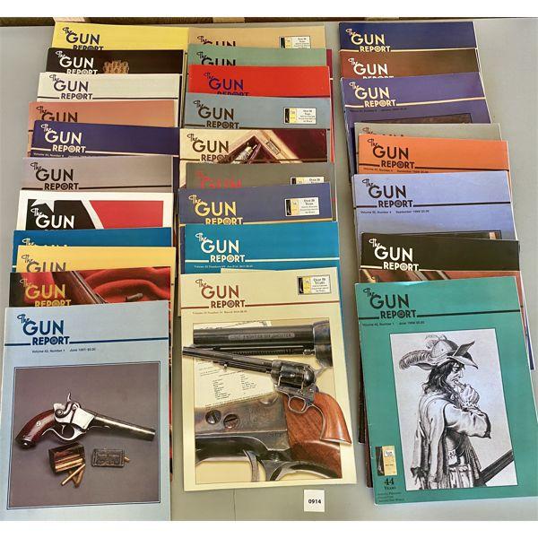 LOT OF APPROX 35 - 'THE GUN REPORT' - VOL 43/45/55